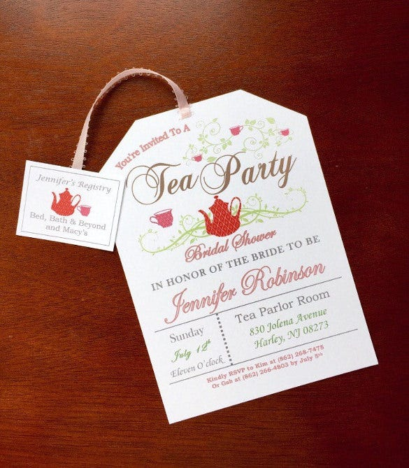 Tea Party Invitation Template - 42+ Free PSD, EPS ...