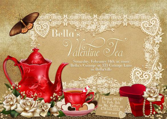 22  tea party invitation templates