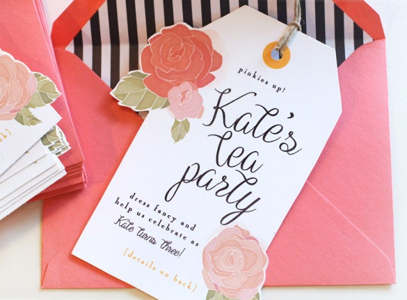Printable Tea Party Invitation
