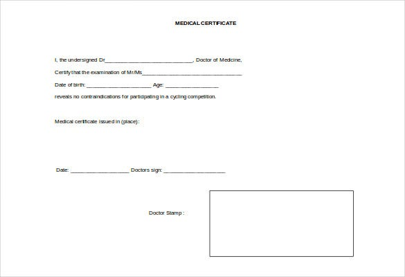 Doctor certificate template 22 free word pdf documents doctor certificate template doc yadclub Images