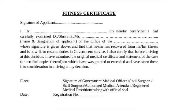 Medical Certificate Medical Certificate Template Pdf Download