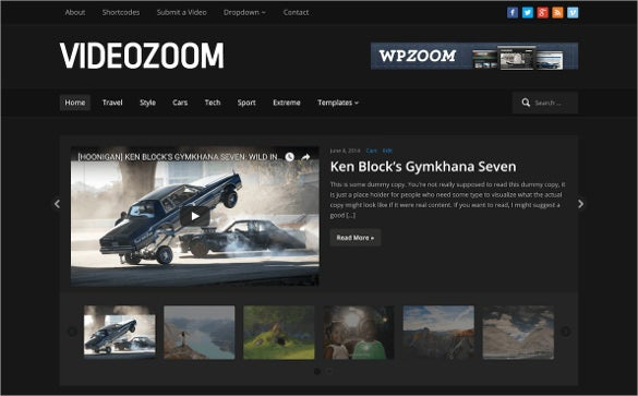videozoom website template