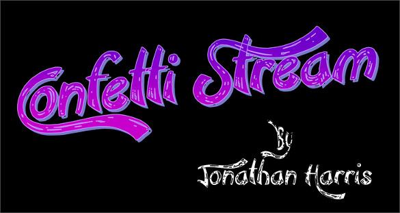 confetti stream letters font template