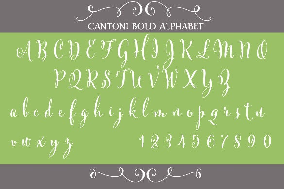 This Cool Template Has Hand Written Cantoni Letter Font Which Can Be Used For Greetings Invitations Headings Etc The Includes All Alphabets And