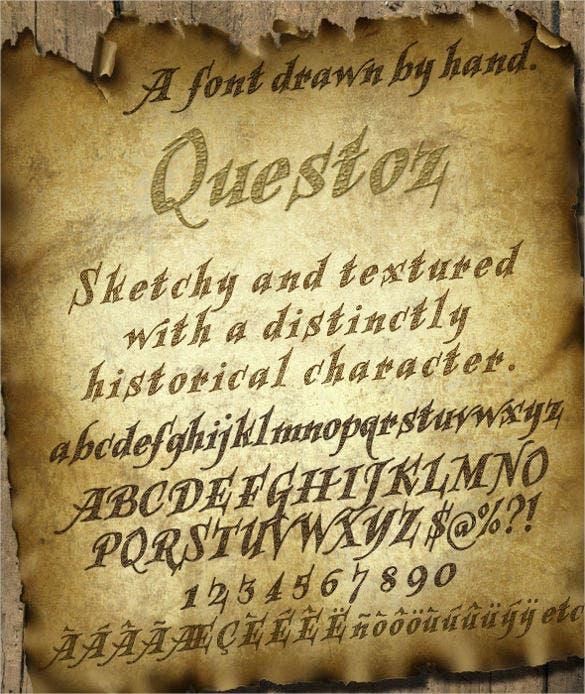 questoz historical lettering font download