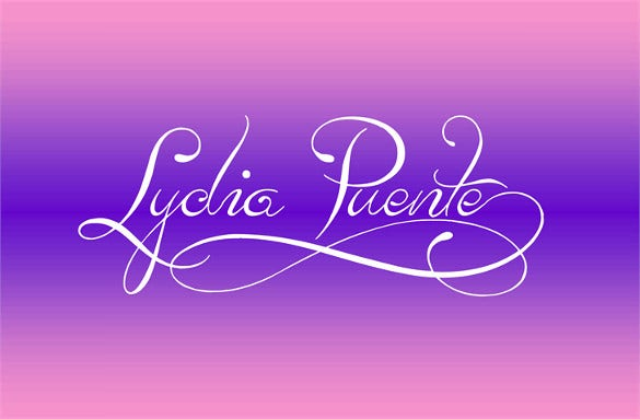 lydia puente cool letters font template download