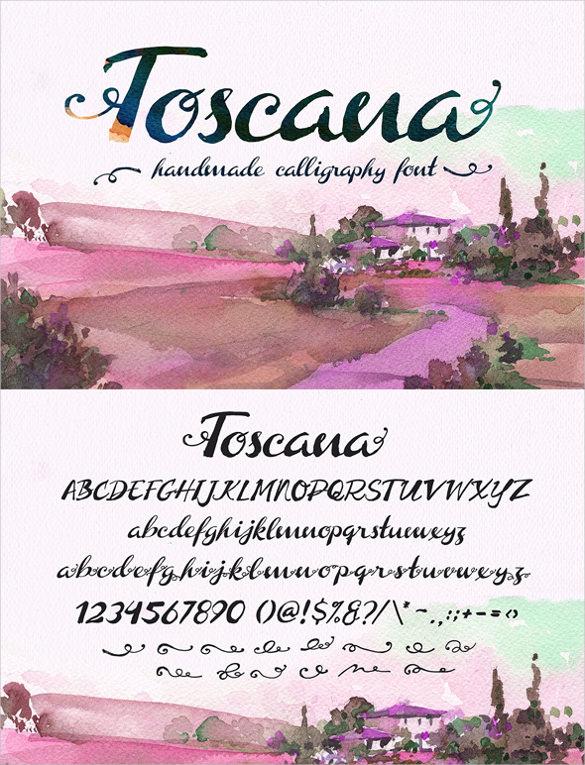toscana lettering font download