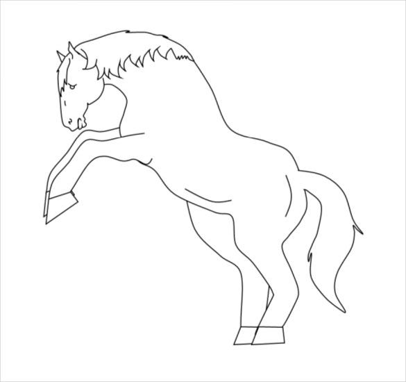 horse coloring page pdf free download