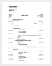 Model Balance Sheet Excel Template Free