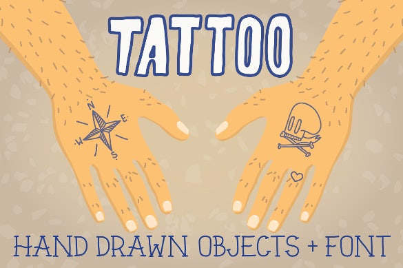 old school tattoo objects font download