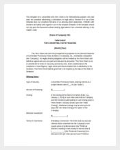 Convertible Note Term Sheet Word Template Free
