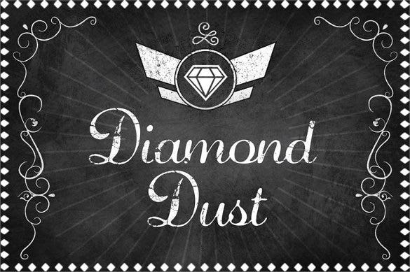 diamond dust tattoo font download0a