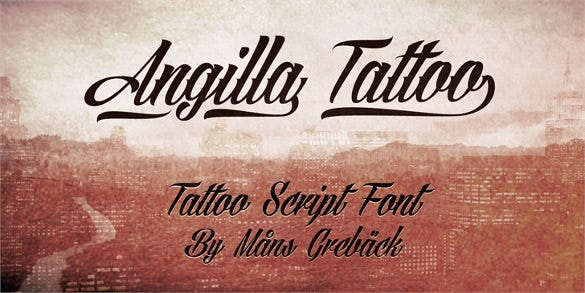 angilla tattoo personal use font download0a