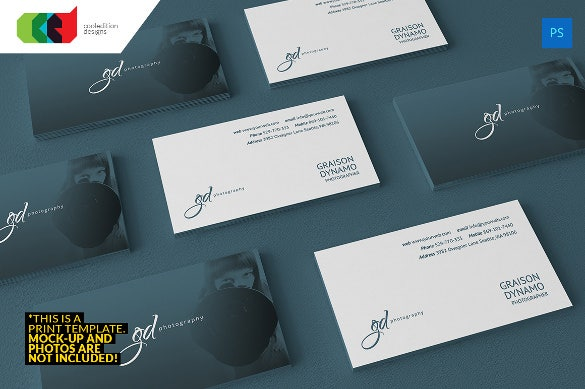 elite photography business card