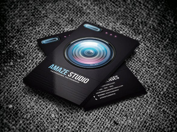 photographer lens business card