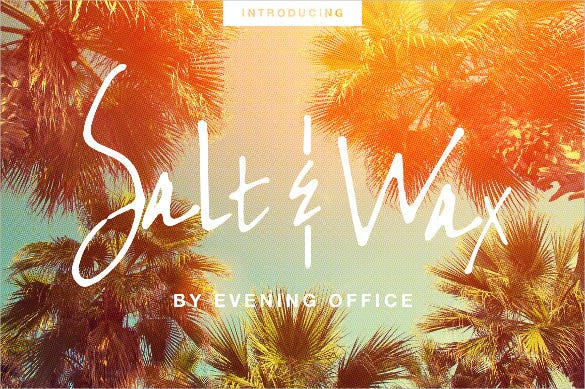 salt wax handwritten font template download