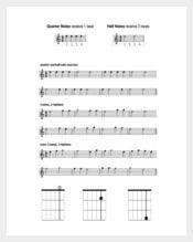 Guitar Music Sheet PDF Template Free