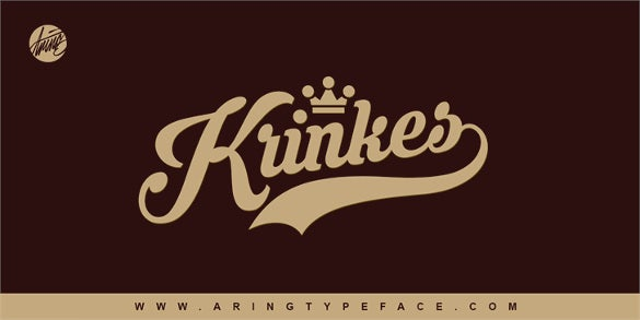 krinkes personal use writing font download