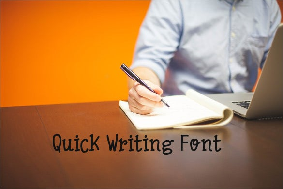 quick write font download