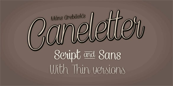 caneletter script personal use writing font download