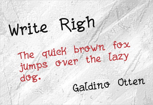 write righ font download1