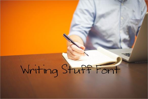 writing stuff font download1