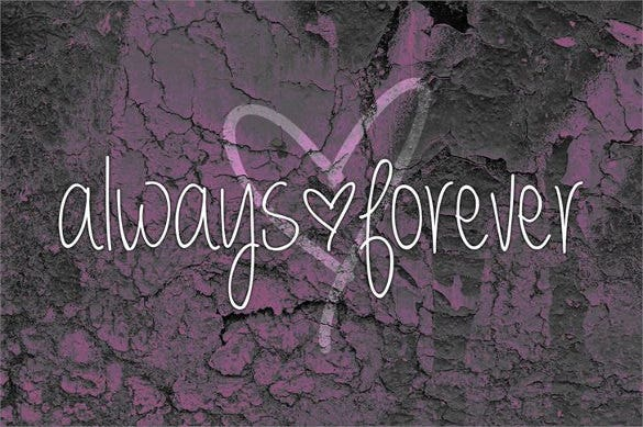 always forever writing font download