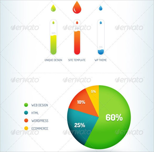 pie chart infographic element psd template download