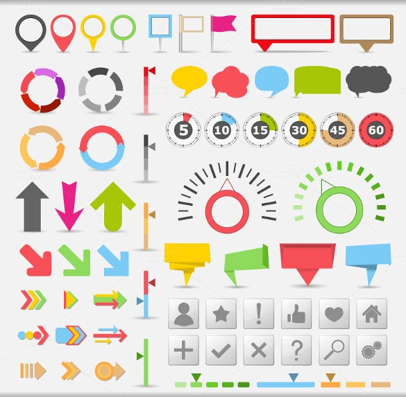 infographic elements collection map markers eps format download