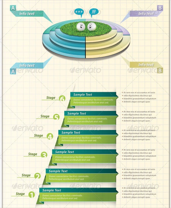 growth and decline ccycles grow infographic mult elements psd