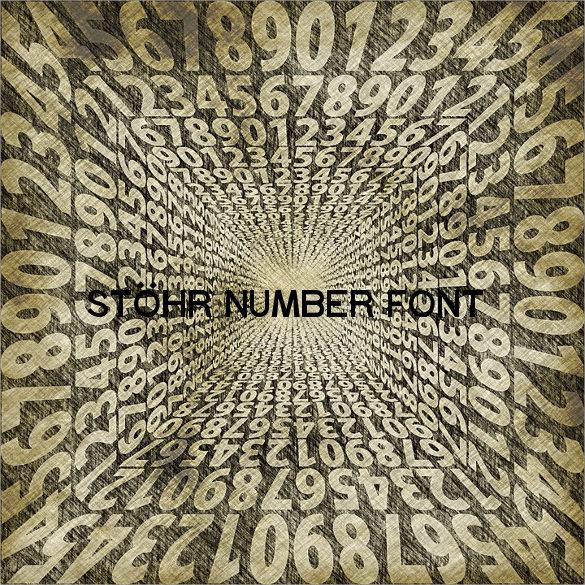 stöhr number font download