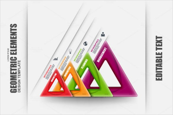 abstract 3d business geometric infographic vector design template