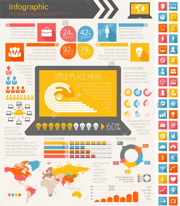 it industry infographic elements download