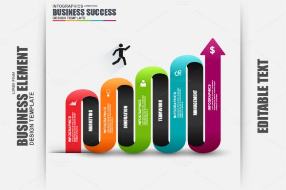 modern business success infographic element vector design template