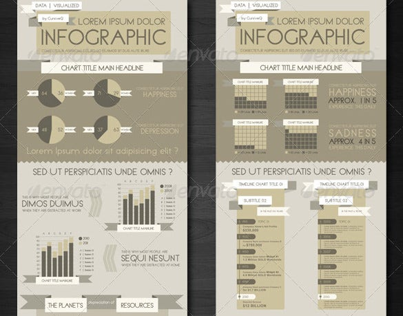 infographic templates and charts template in photoshop psd