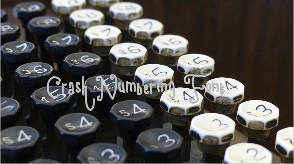 crash numbering font download