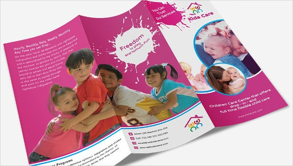 daycare_a3trifold_brochure template