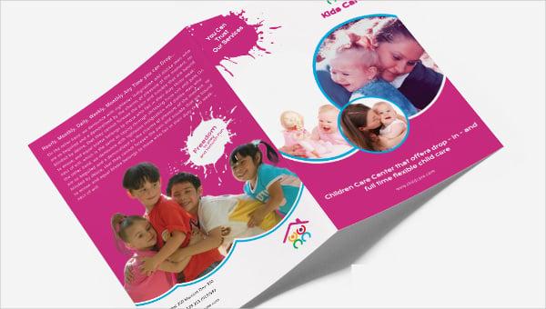 daycare_a4bifoldbrochure template