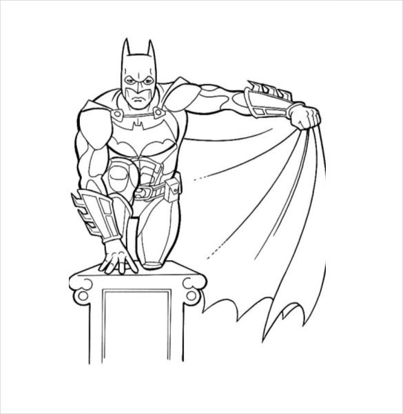 batman sitting coloring page pdf free download - Batman Coloring Books