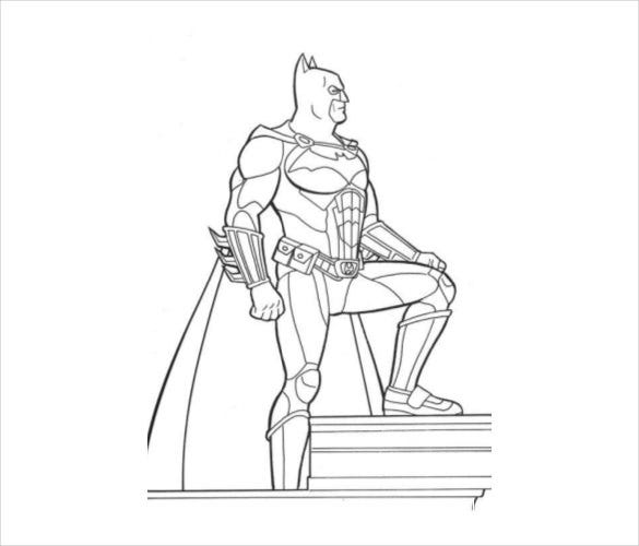 alone batman coloring page pdf free download