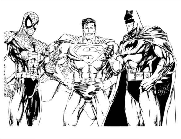 batman with friends coloring page pdf free download