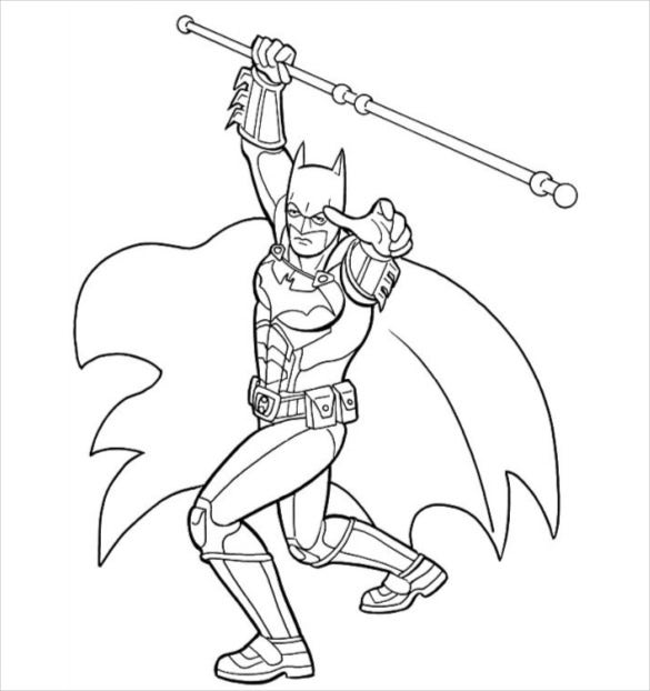 batman in action coloring page pdf free download1