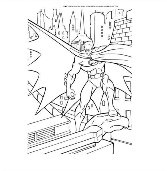 batman defending city coloring pdf free download
