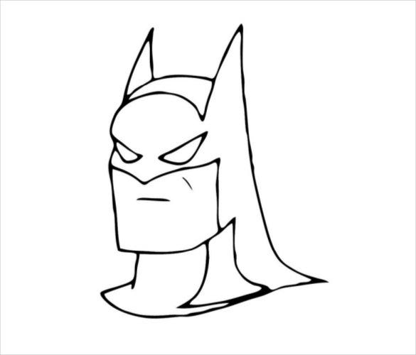 face of batman coloring page pdf free download