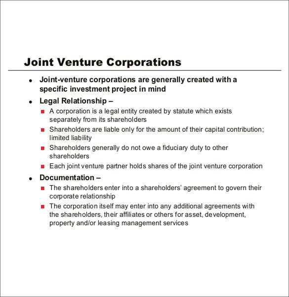 Partnership Agreement Template 11 Free Word PDF Document – Free Joint Venture Agreement Template