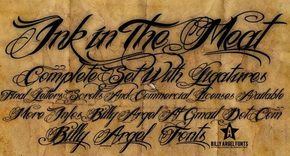 ink in the meat font download