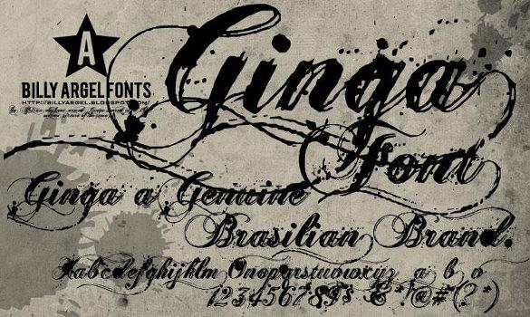 gingatattoo font download0a