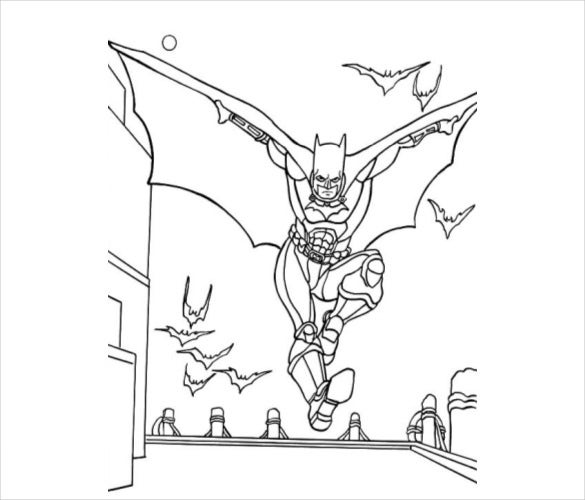 batman and bat coloring page pdf free download