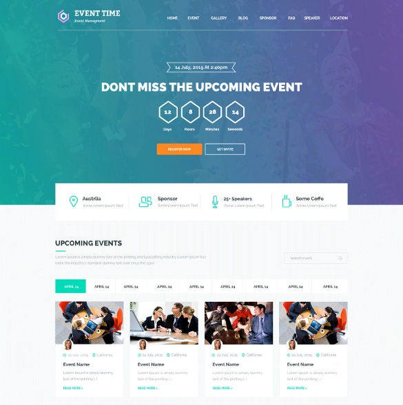 33+ Event Planning Website Themes & Templates | Free & Premium Templates
