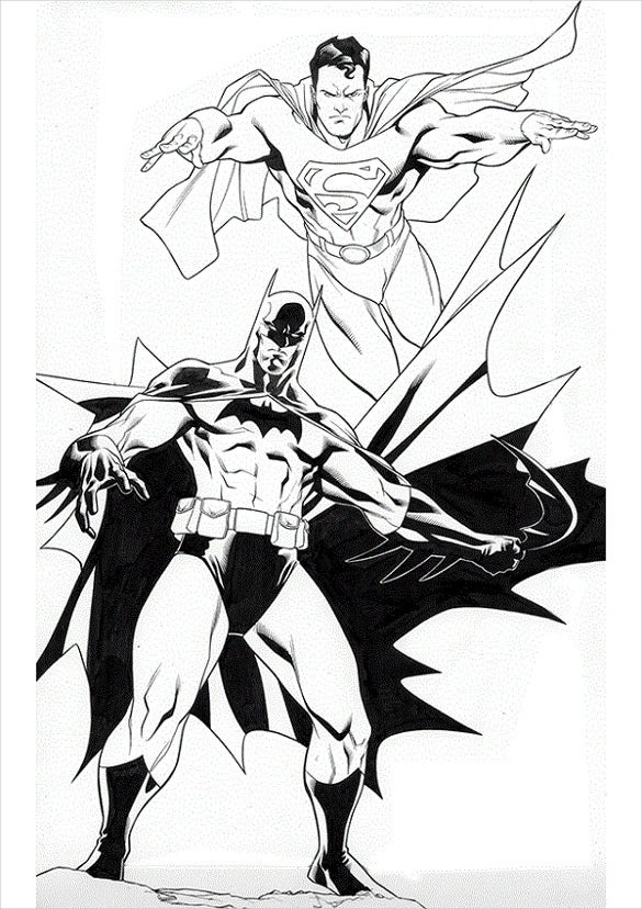 batman and superman in ation
